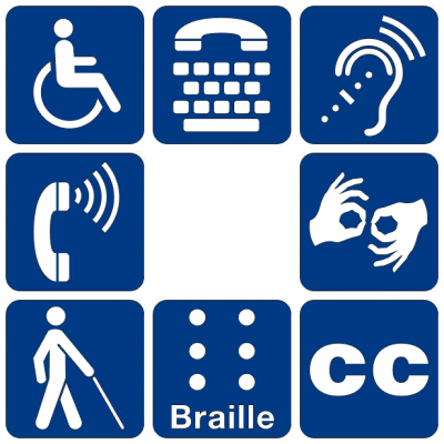 Disability identification symbols